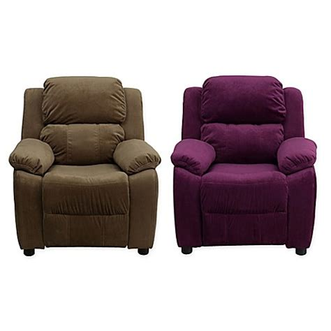 recliner pillows for bed flash furniture microfiber kids recliner with storage arms