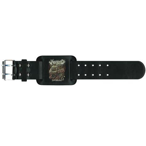 aborted goremageddon vinyl aborted goremageddon leather wristband
