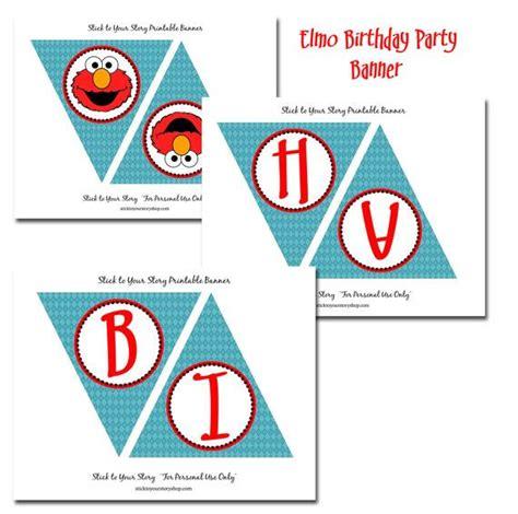 elmo happy birthday banner printable 13 best firefighter elmo party images on pinterest elmo