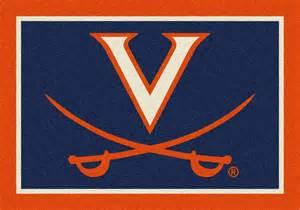 of virginia cavaliers spirit logo rug