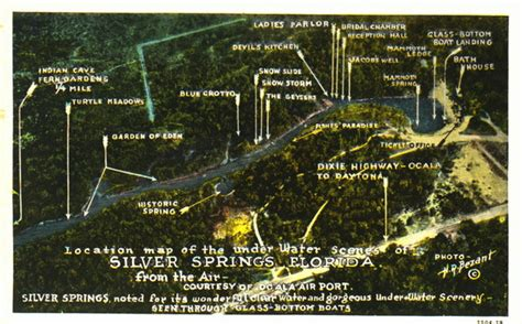 map of silver springs florida florida memory location map of the underwater