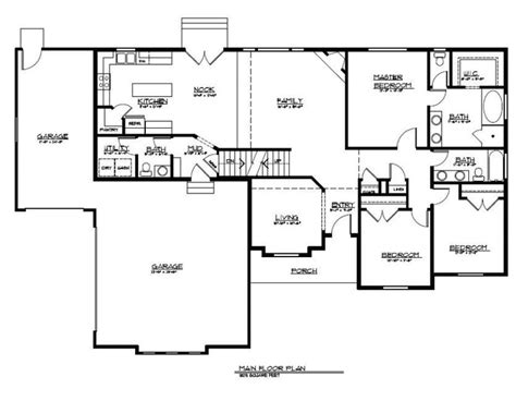 rambler house floor plans rambler floor plan with bonus level our new home pinterest