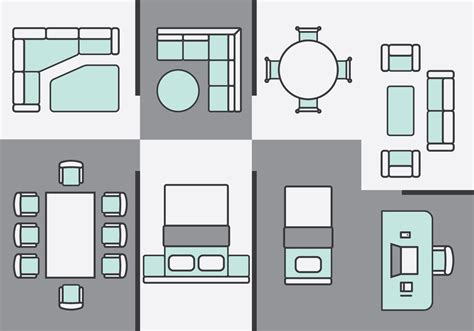 furniture icons for floor plans architecture free vector art 5542 free downloads
