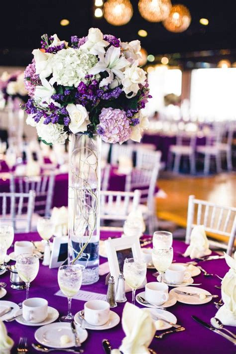 purple themed centerpiece nicole s 18th birthday debut