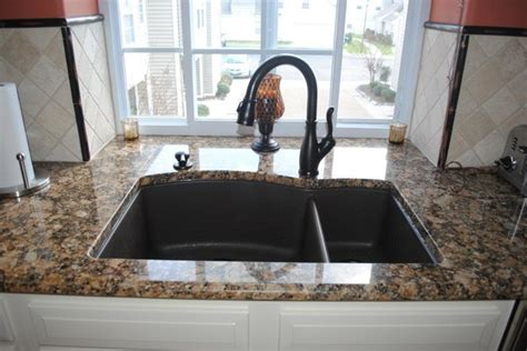 blanco silgranite sink rubbed bronze finish faucet