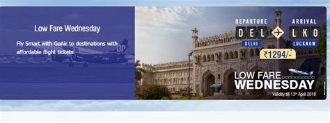 goair low fare flights wednesday sale budget carrier offers domestic tickets priced at rs 1 294