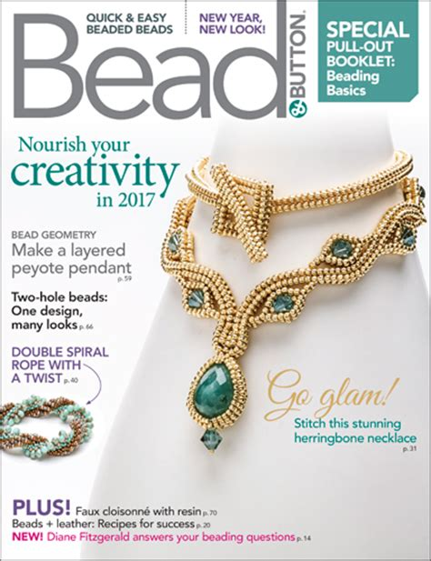 bead and jewellery magazine february 2017 resource guide facet jewelry
