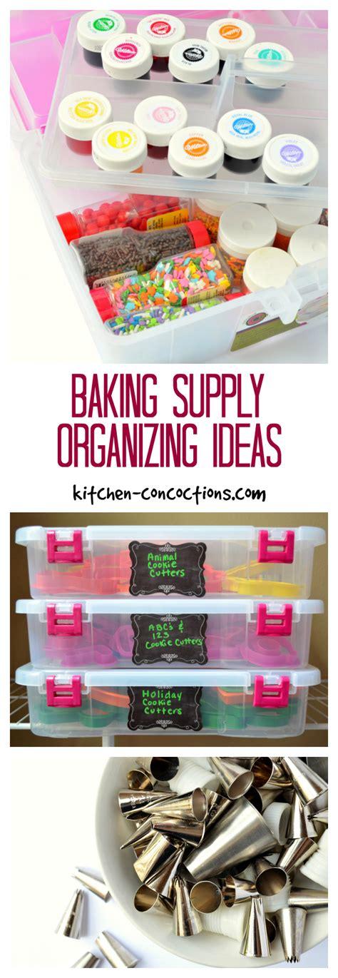 baking supply organization baking supply organizing ideas kitchen concoctions