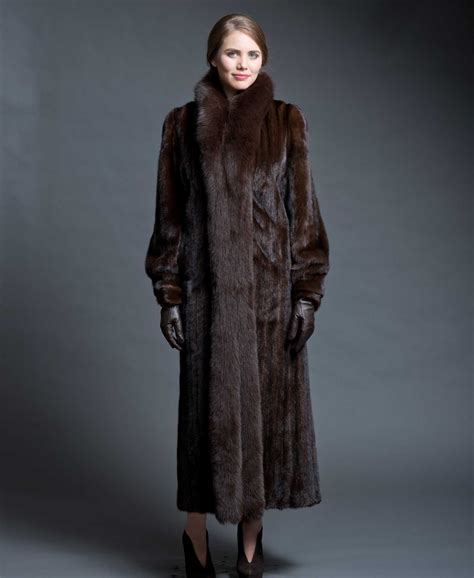 fur coat mink coat with fox tuxedo alaskan fur