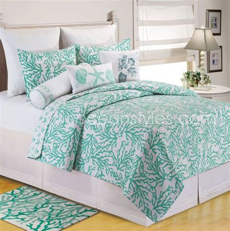 seafoam green and coral bedroom cora seafoam bedding gorgeous coral patterned quilt in a