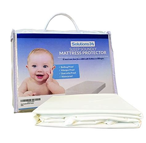 Best Waterproof Crib Mattress Cover Best Crib Mattress Protector Zippered Encasement Will Keep Your Baby Safe From Bed Bugs Dust