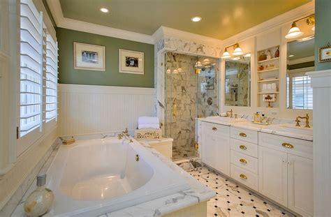green and yellow bathroom