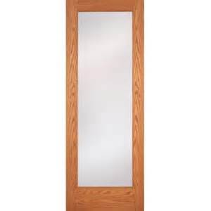oak interior doors home depot feather river doors 36 in x 80 in privacy woodgrain 1 lite unfinished oak interior door slab