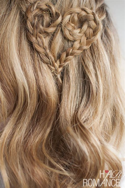 braided hairstyles heart valentine s day hairstyle tutorial heart braid hairstyle