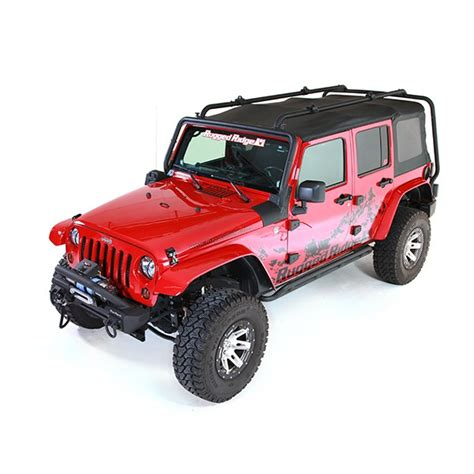 Wrangler Unlimited Roof Rack by Rugged Ridge 11703 02 Sherpa Roof Rack 07 15 Jeep