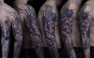 Raven in tree tattoos amazing skull tattoo with tree branches and