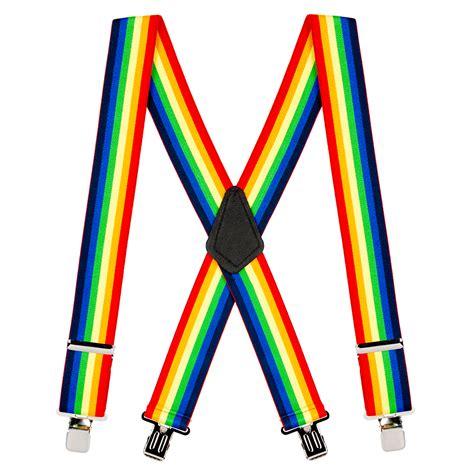 colored suspenders rainbow suspenders novelty suspenders suspenderstore
