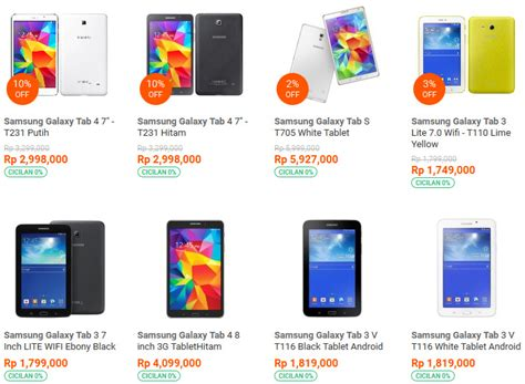 Tablet Samsung Semua Tipe pilihan tipe tablet samsung terlengkap