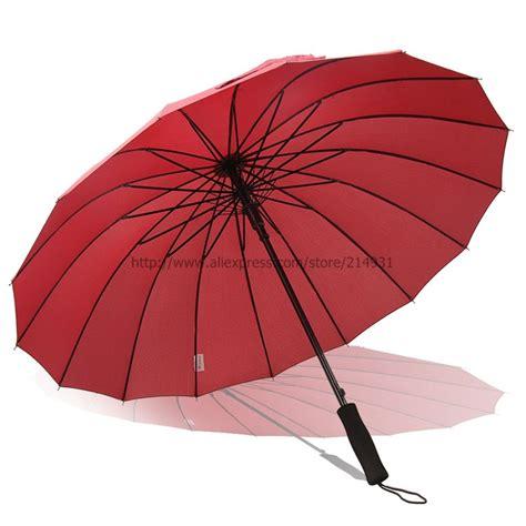 large umbrella top quality large golf umbrella handle 16 panels sun umbrella fashion