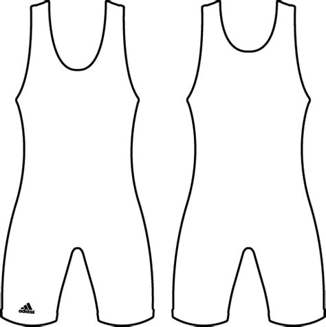 wrestling singlet outline template sketch coloring page