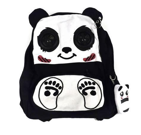 Backpack Panda happy panda backpack with speakers pink cat shop