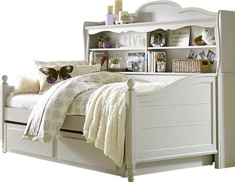Daybed With Trundle And Storage Westport Bookcase Daybed With Trundle Storage Drawer In Morning Mist Traditional Indoor