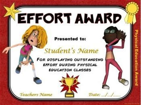 physical education certificates samweiss 17 best images about pe awards certificates on
