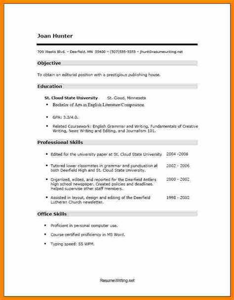 simple resume format sle pdf 7 cv sles for freshers pdf theorynpractice