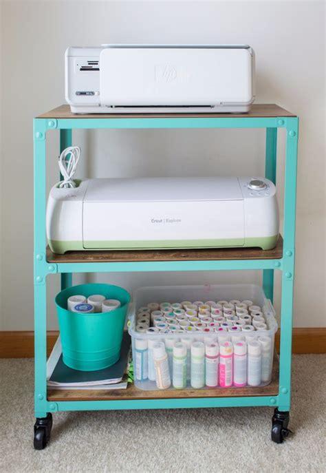 printer storage ideas 35 cool craft room storage ideas diy joy
