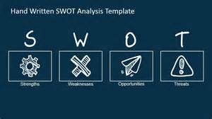 swot analysis handwritten shapes for powerpoint slidemodel