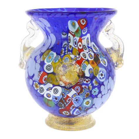millefiori vase glassofvenice murano glass millefiori urn vase with