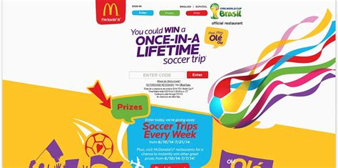 Mcdonalds Online Sweepstakes - mcdonegoal com mcdonald s 2014 fifa world cup brazil sweepstakes
