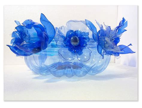fiori plastica riciclata design per la casa