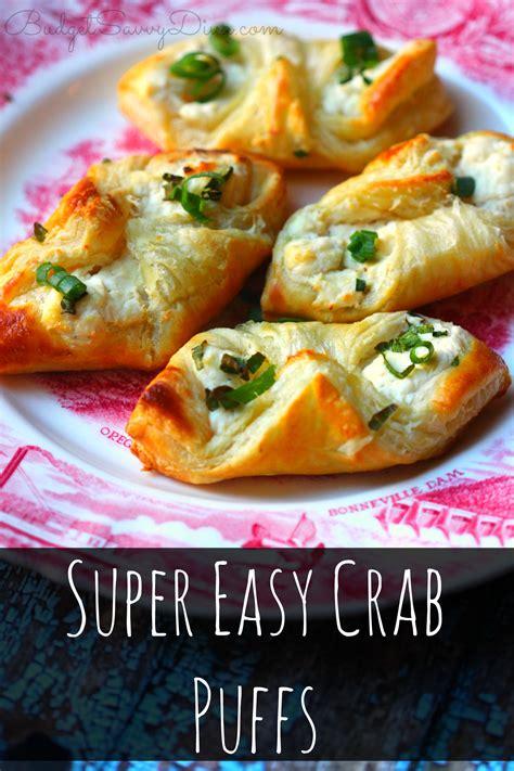 super easy crab puffs recipe budget savvy diva