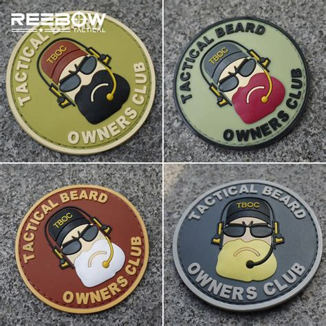 Tactical Beard Brown aliexpress buy 3pcs tactical beard owners club patches armband swat combat team symbol