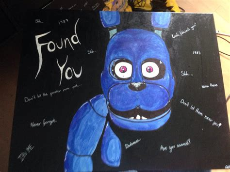 painting fnaf fnaf bonnie painting drawing by irlcreations on deviantart
