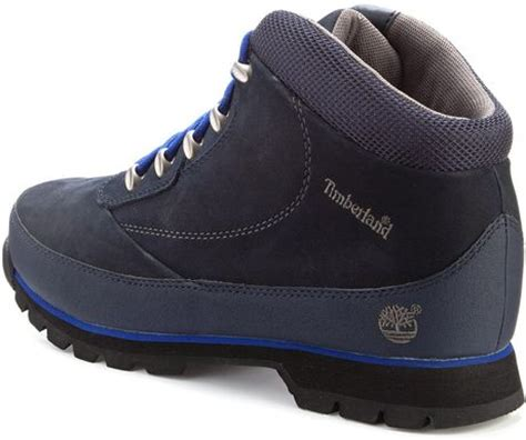 timberland boots blue mens timberland eurobrook hiker boots in blue for navy lyst