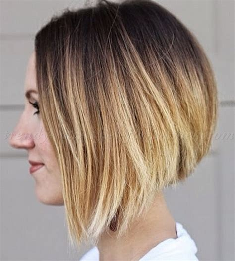 ombre colored hair cut in a line bob bob hairstyles ombre bob hairstyle trendy hairstyles