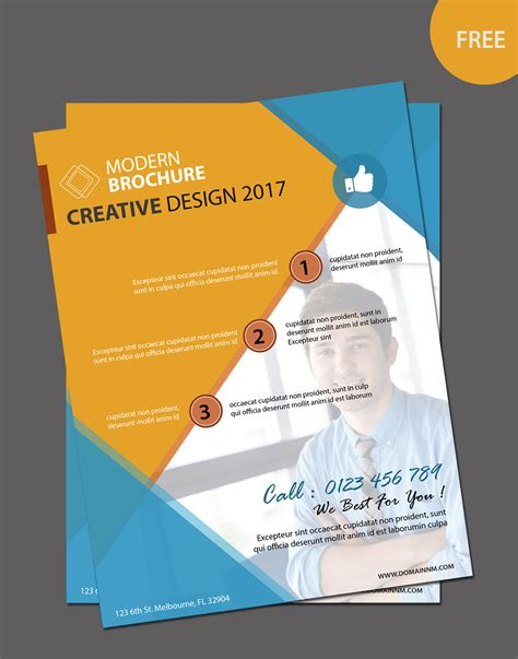 leaflet design template free free editable brochure template