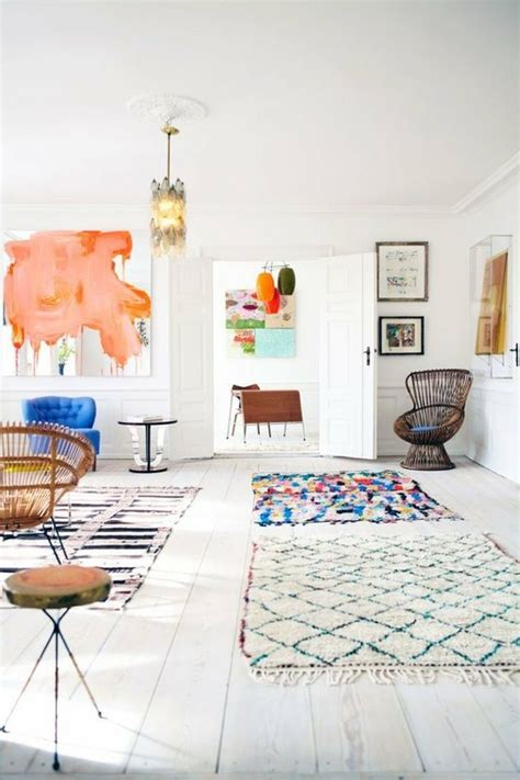 two rugs in one room