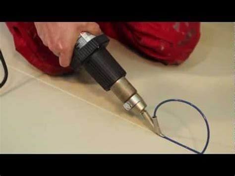 How to: Heat Welding Vinyl Floor with Heat Gun,Hot Air Gun