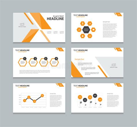 layout presentation illustrator page presentation layout design template stock vector