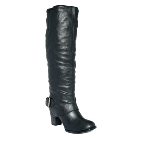nine west izusa boots in black black leather lyst