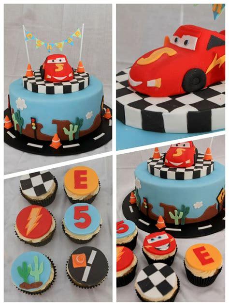 Lightning Mcqueen Cupcakes  Ee  Birthday Ee   Vd Pinterest