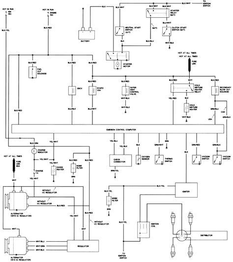 87 toyota alternator wiring diagram alternator