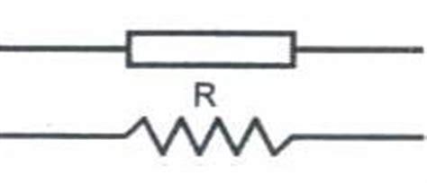 simbol resistor fixed ulik electronic passive components