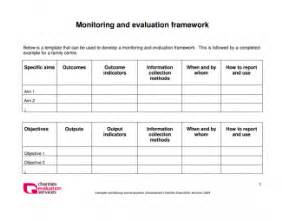 Monitoring And Evaluation Report Template by Monitoring And Evaluation Framework Gallery