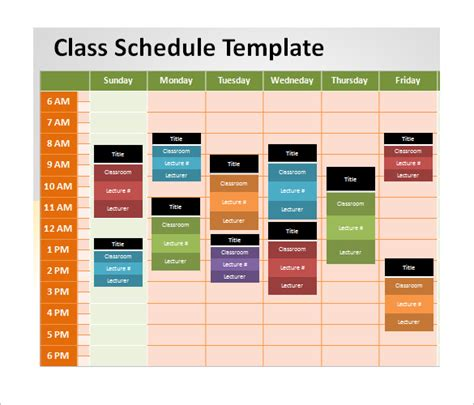 presentation schedule template powerpoint schedule template 8 free word excel ppt