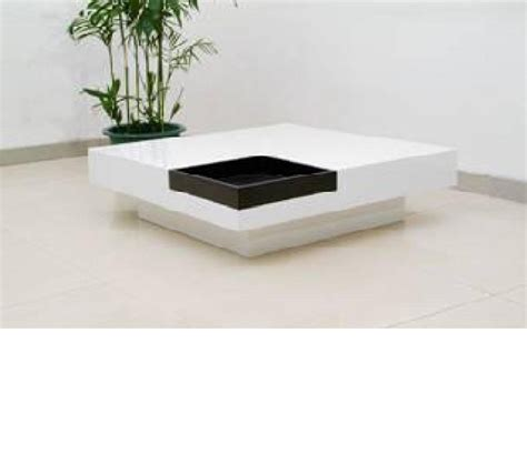 Black Modern Coffee Tables Dreamfurniture 59006 Modern White And Black Coffee Table