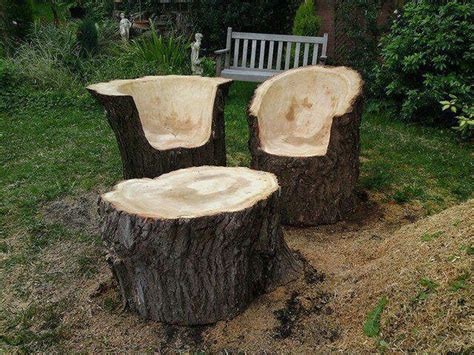 Tree Trunk Furniture Ideas upcycled tree stump and log ideas the owner builder network